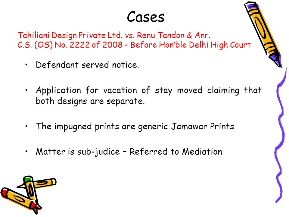 Cases Defendant served notice.