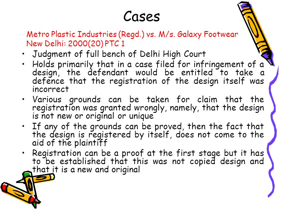 Cases Judgment of full bench of Delhi High Court