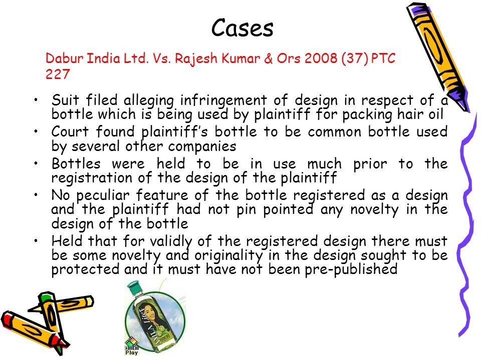 Cases Dabur India Ltd. Vs. Rajesh Kumar & Ors 2008 (37) PTC 227.