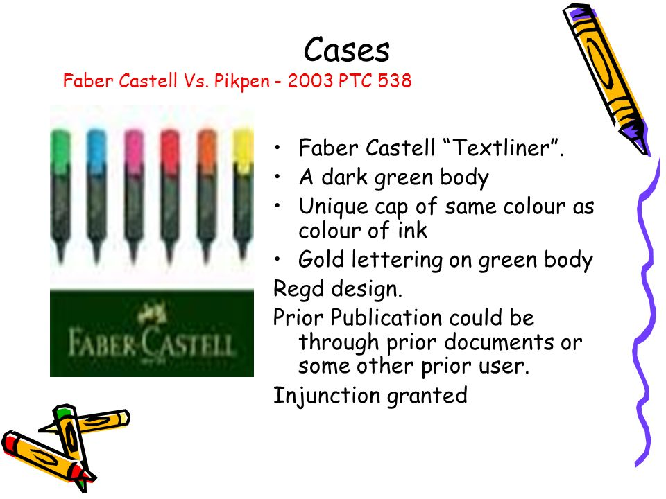 Cases Faber Castell Textliner . A dark green body