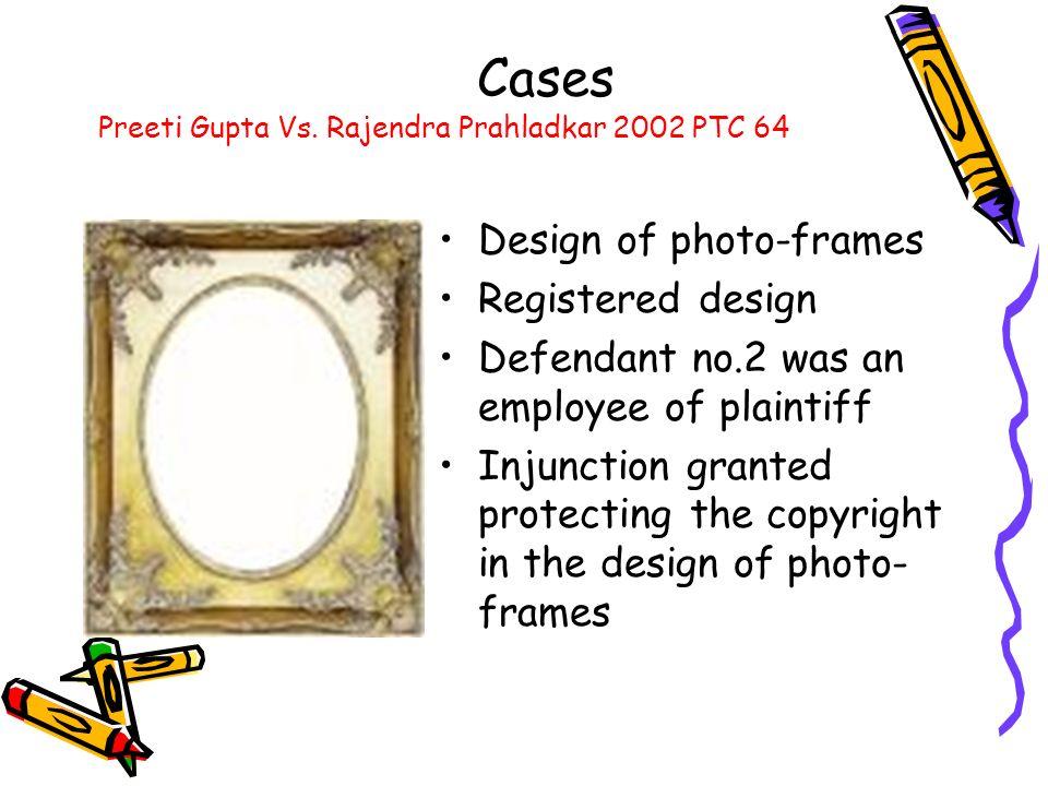 Cases Design of photo-frames Registered design
