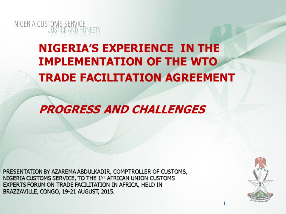 Trade Facilitation Agreement Progress And Challenges Ppt Video