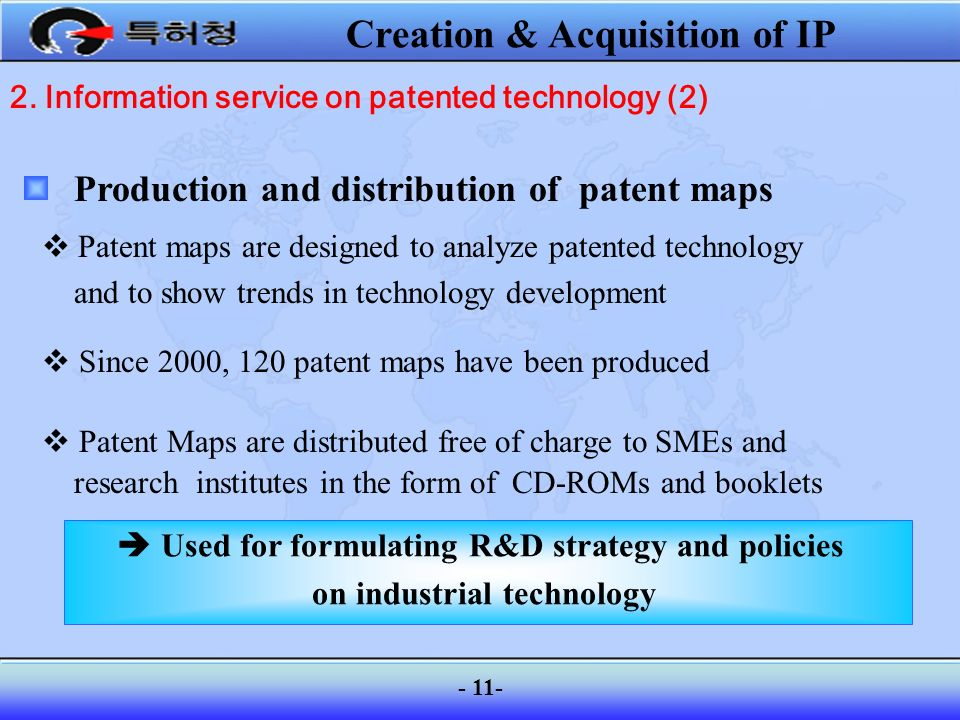 Creation & Acquisition of IP