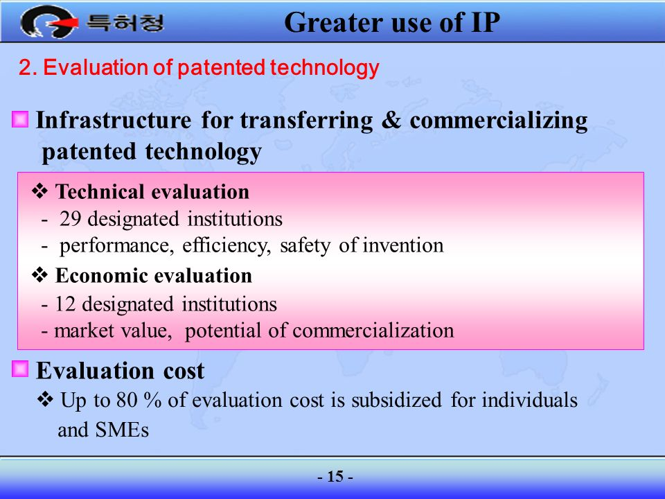 2. Evaluation of patented technology