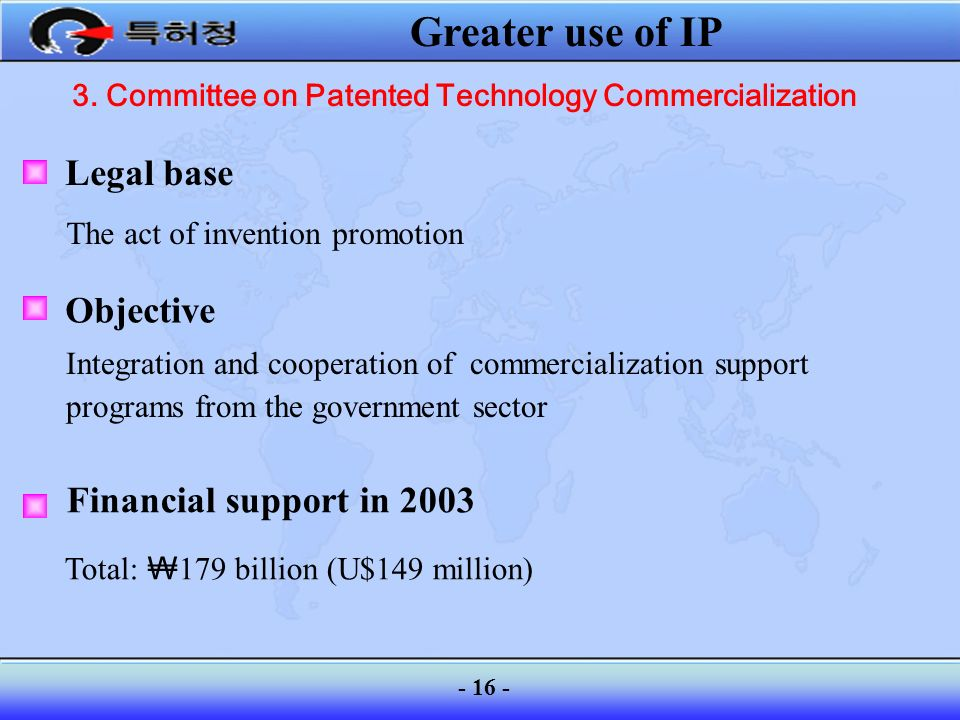 3. Committee on Patented Technology Commercialization