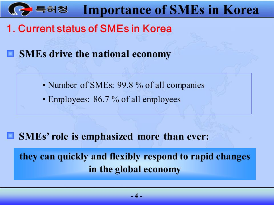 1. Current status of SMEs in Korea