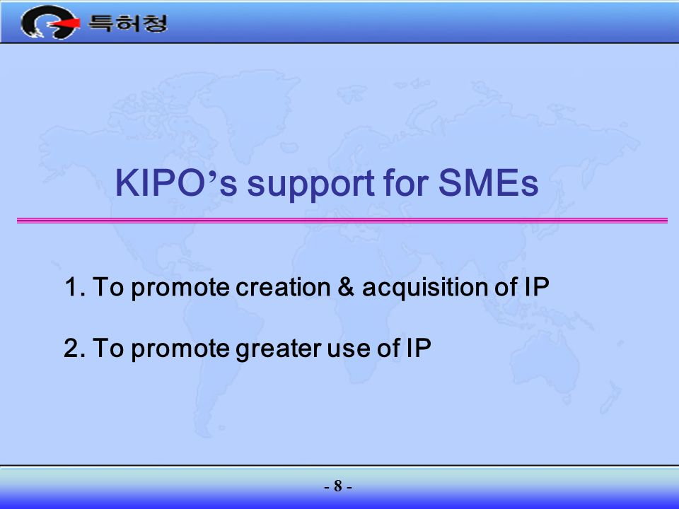 KIPO's support for SMEs