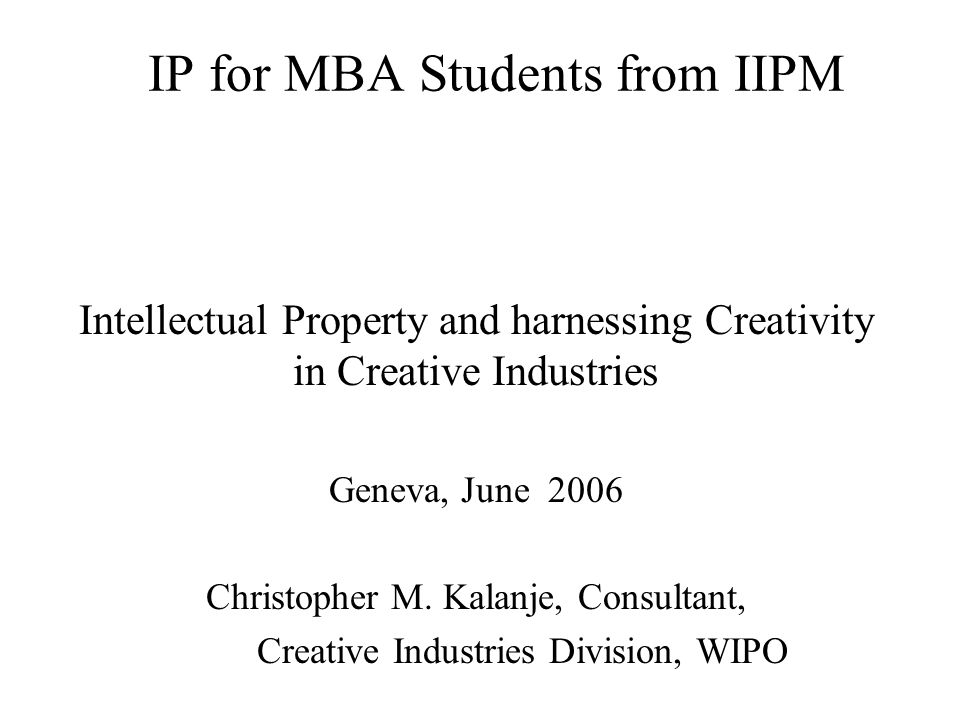 IP for MBA Students from IIPM