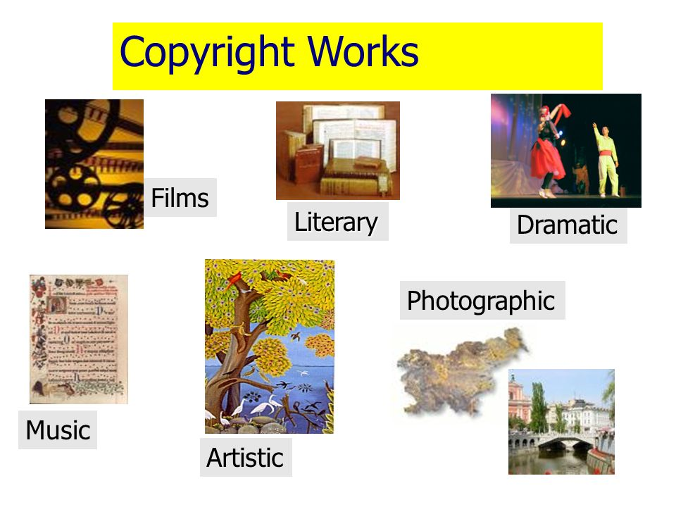 Copyright Works Films Literary Dramatic Photographic Music Artistic