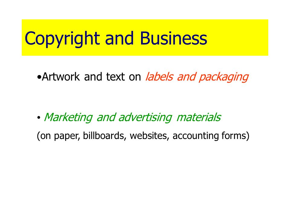 Copyright and Business