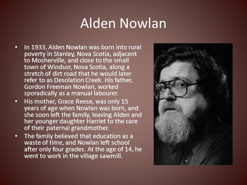 the fall of a city by alden nowlan Choose from 500 different sets of english stories authors names flashcards on quizlet  - by alden nowlan - sentence:  that big lummox has been pl .