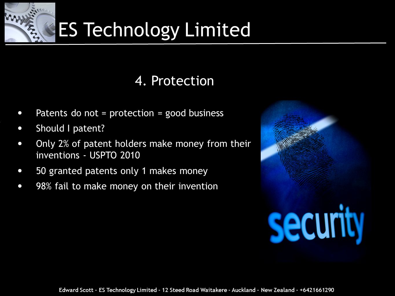 ES Technology Limited 4. Protection