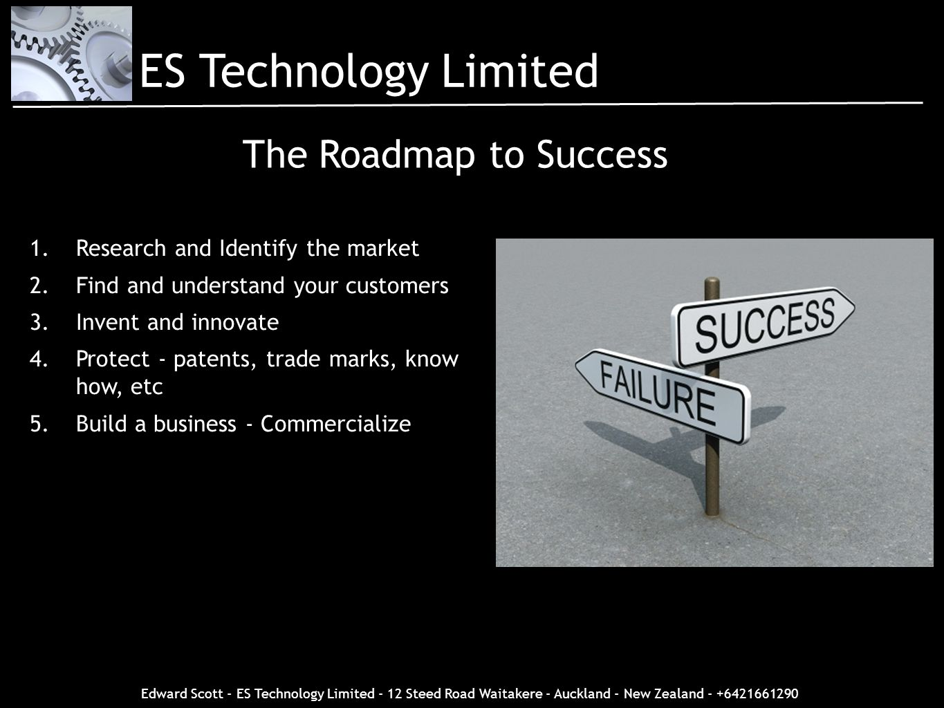 ES Technology Limited The Roadmap to Success
