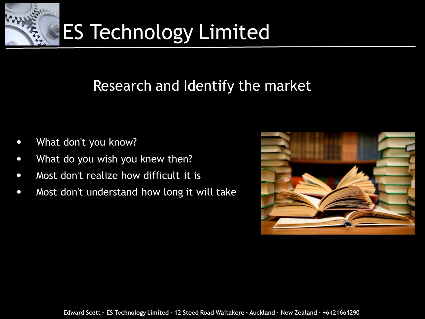 Research and Identify the market