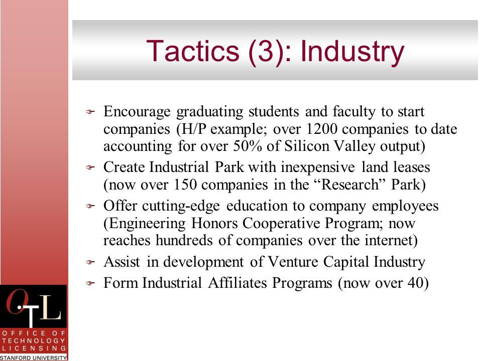Tactics (3): Industry