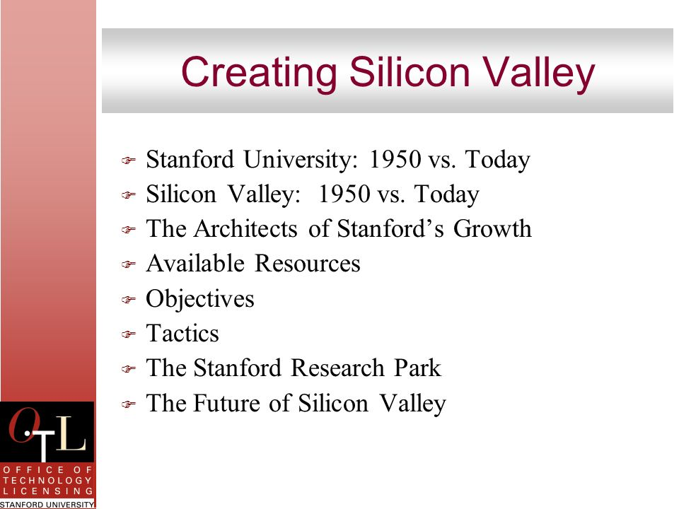 Creating Silicon Valley