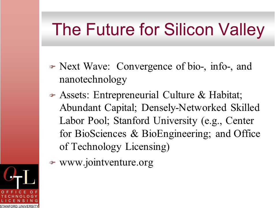 The Future for Silicon Valley