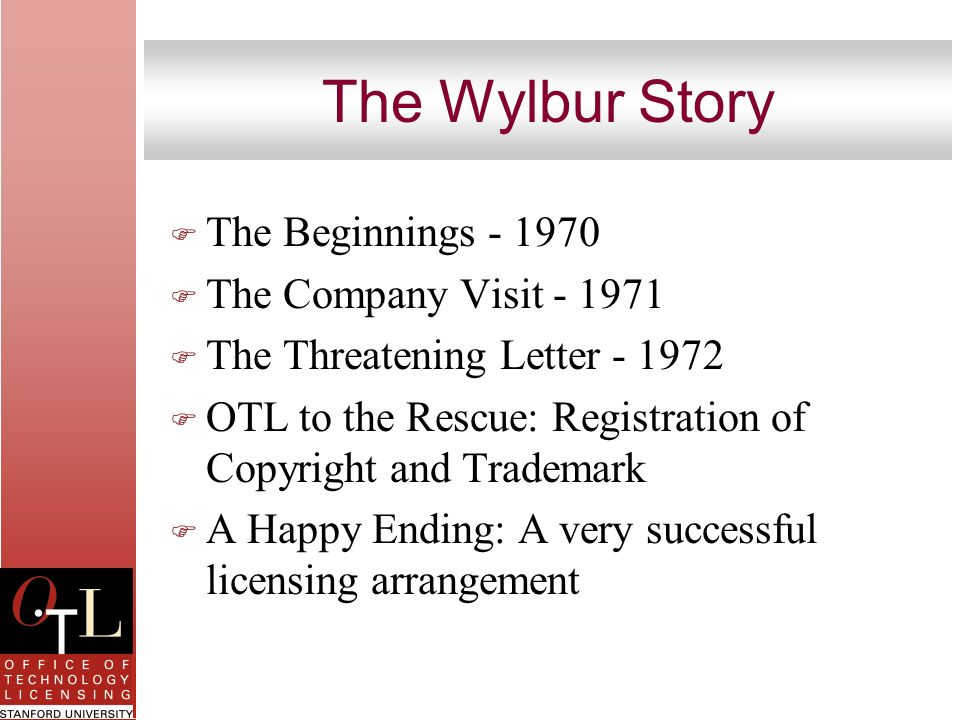The Wylbur Story The Beginnings - 1970 The Company Visit - 1971