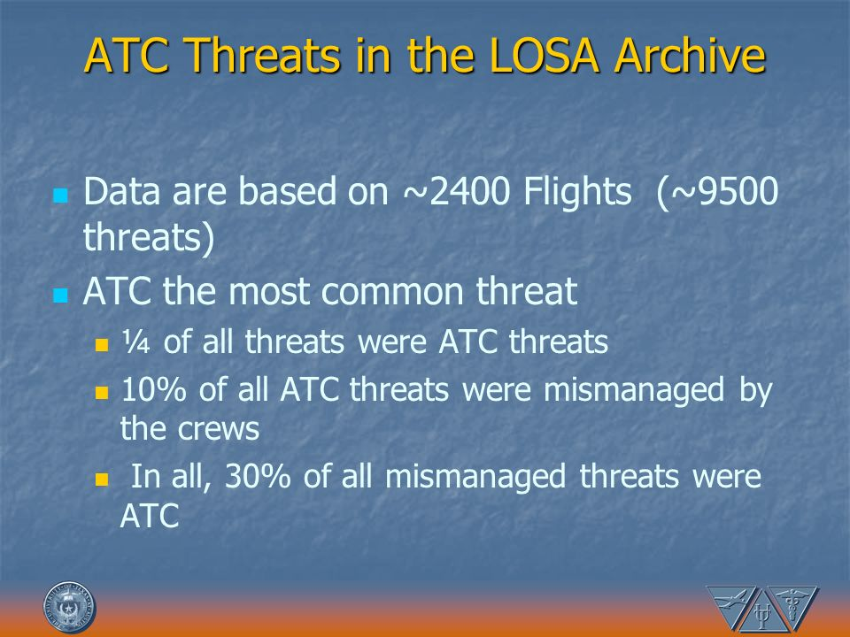 ATC Threats in the LOSA Archive