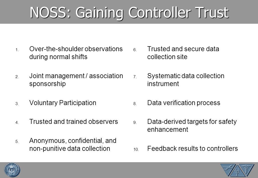 NOSS: Gaining Controller Trust