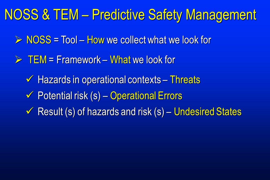 NOSS & TEM – Predictive Safety Management