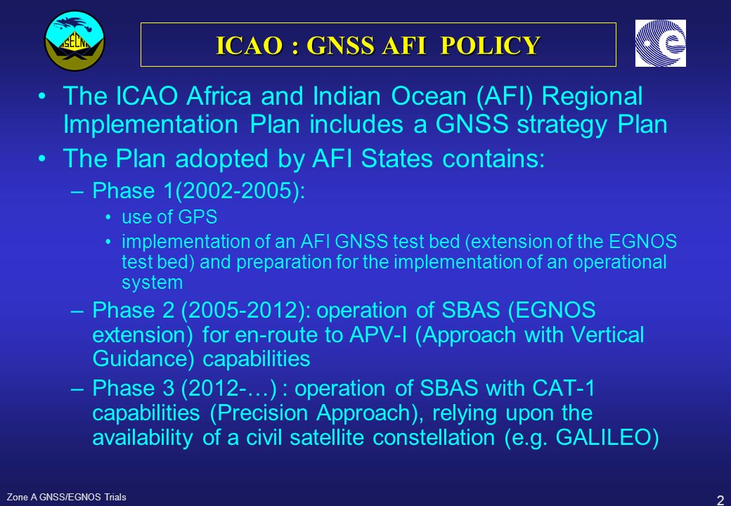 The Plan adopted by AFI States contains: