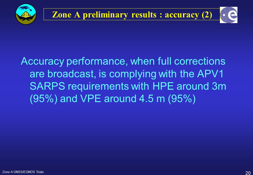 Zone A preliminary results : accuracy (2)