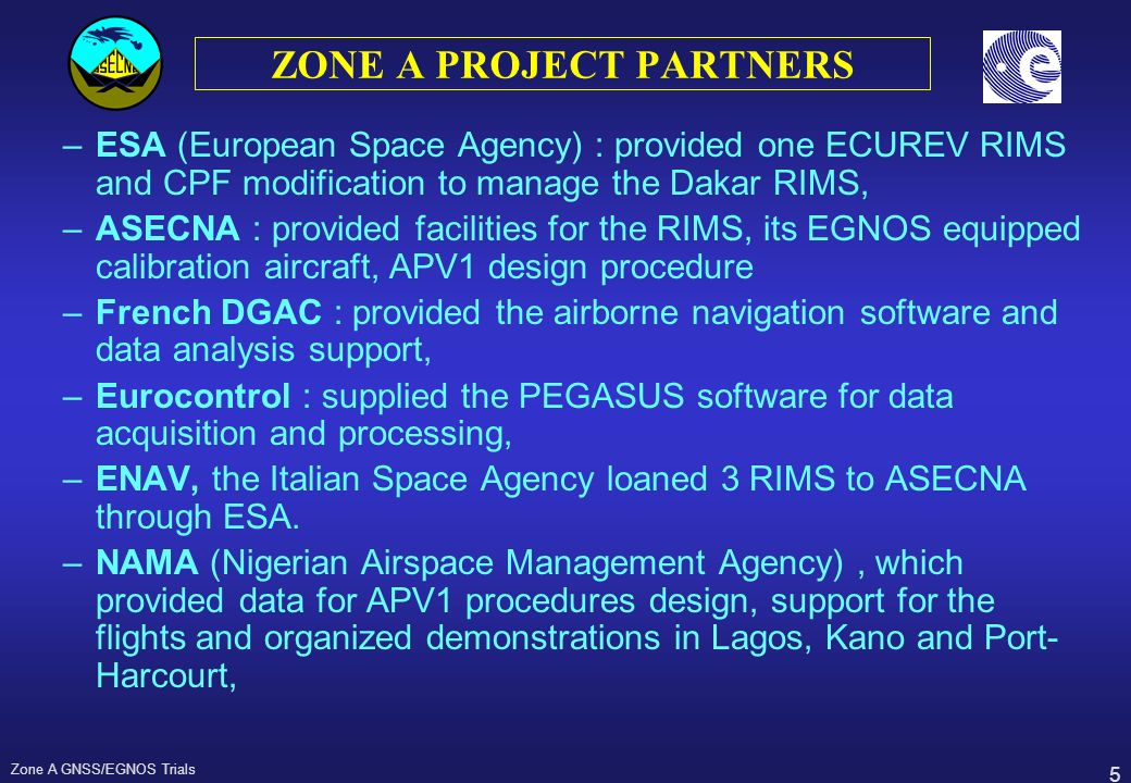 ZONE A PROJECT PARTNERS