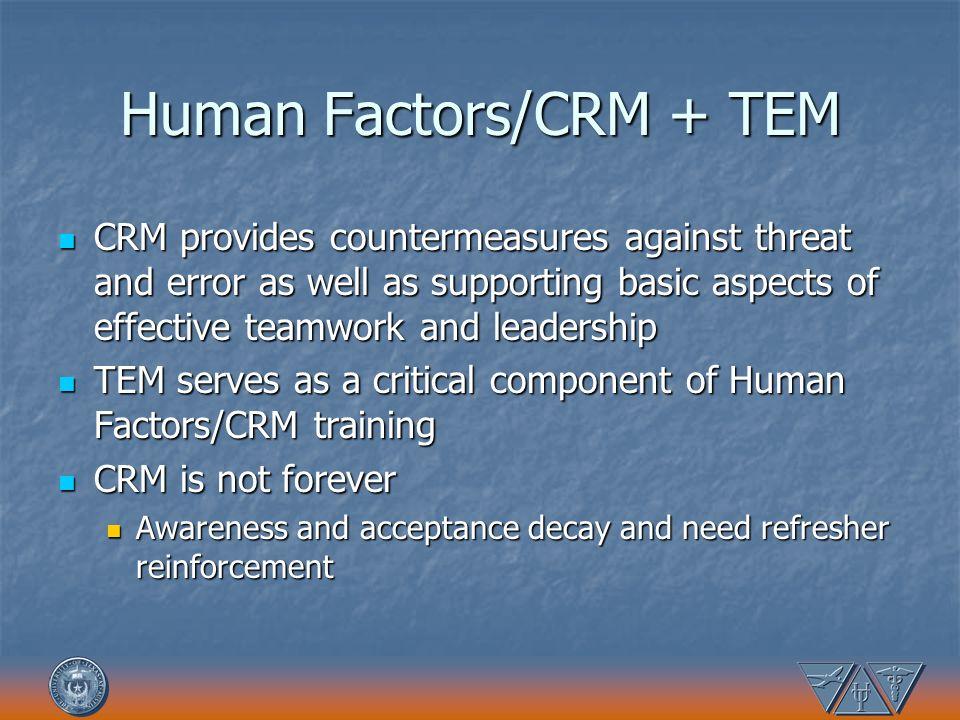 Human Factors/CRM + TEM