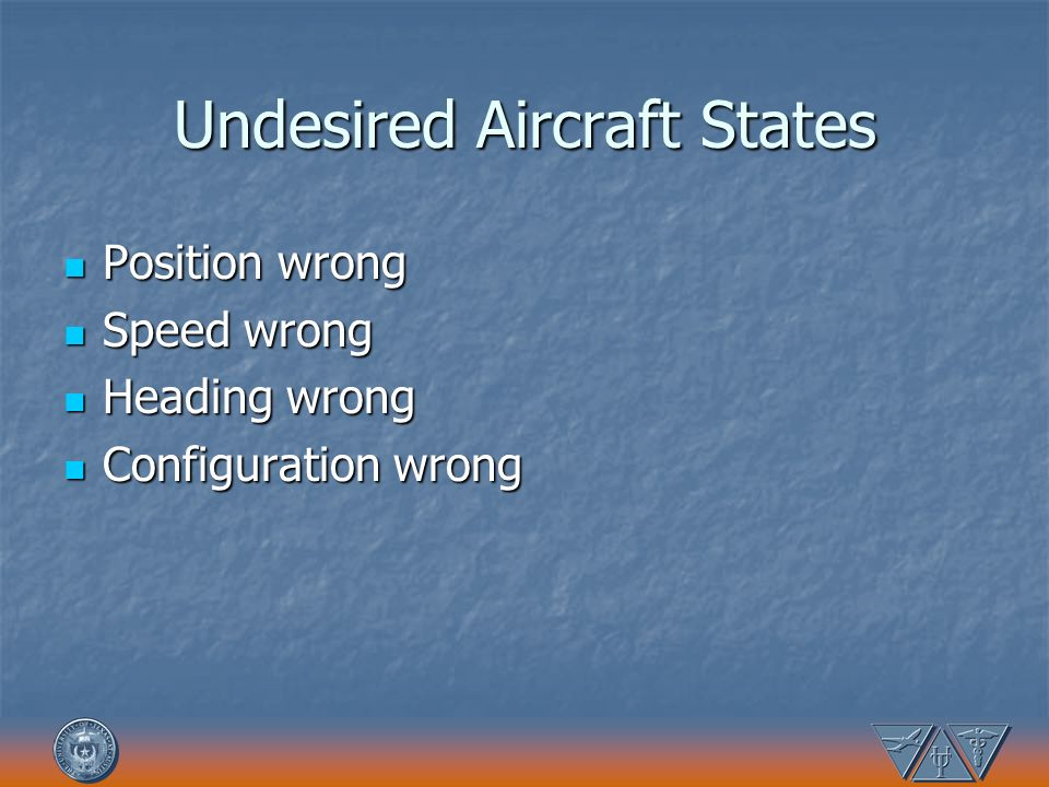 Undesired Aircraft States