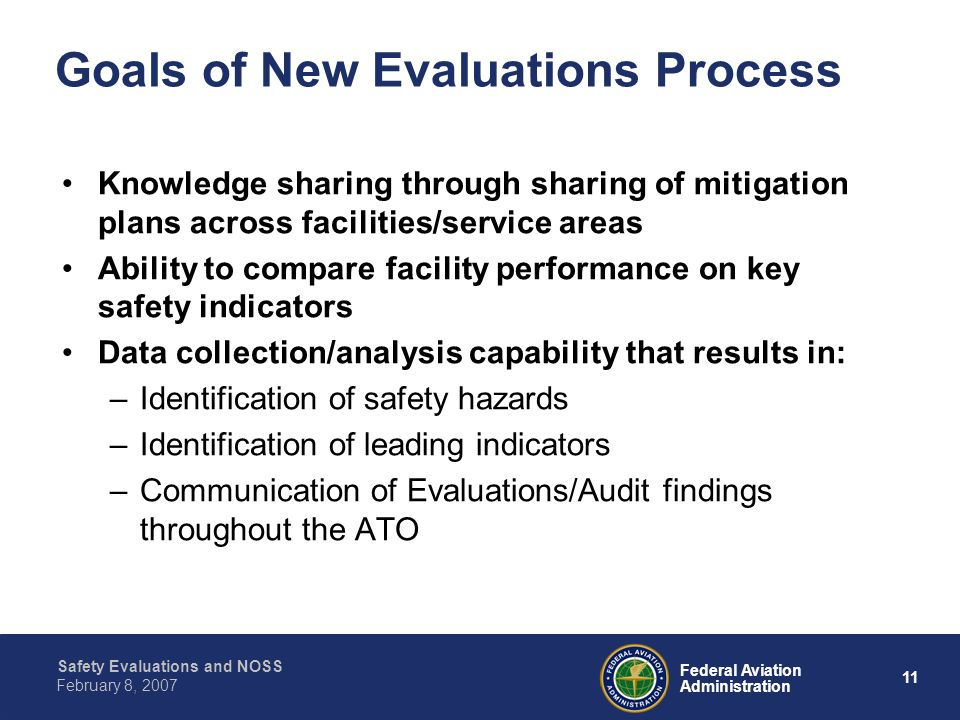 Goals of New Evaluations Process