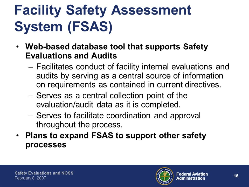 Facility Safety Assessment System (FSAS)