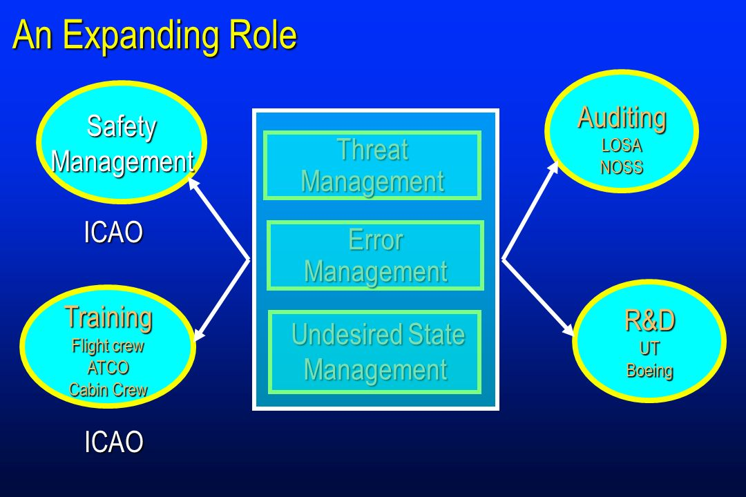 An Expanding Role Auditing Safety Management Threat Management ICAO