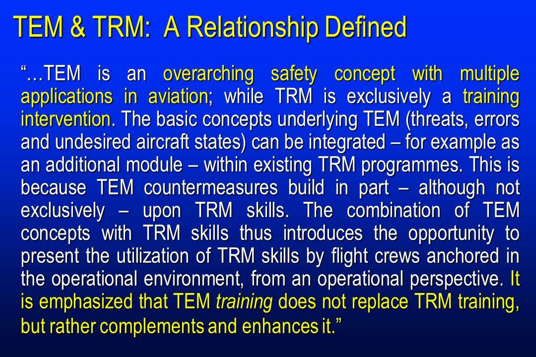 TEM & TRM: A Relationship Defined