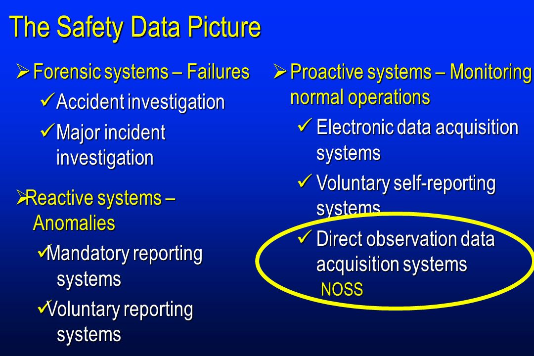 The Safety Data Picture