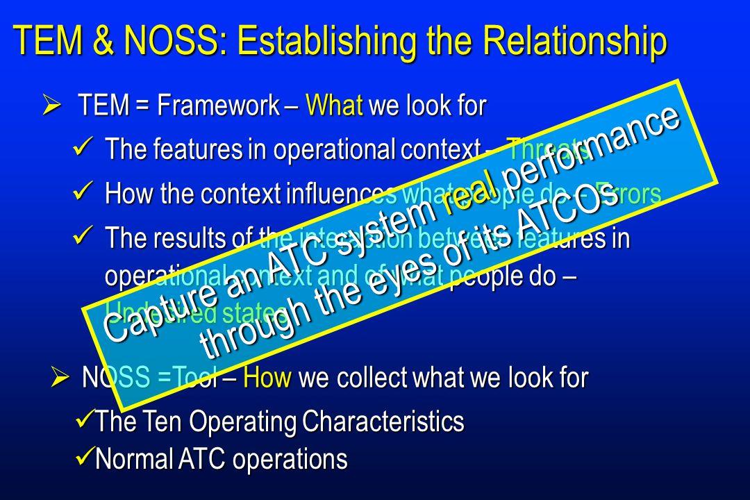 TEM & NOSS: Establishing the Relationship