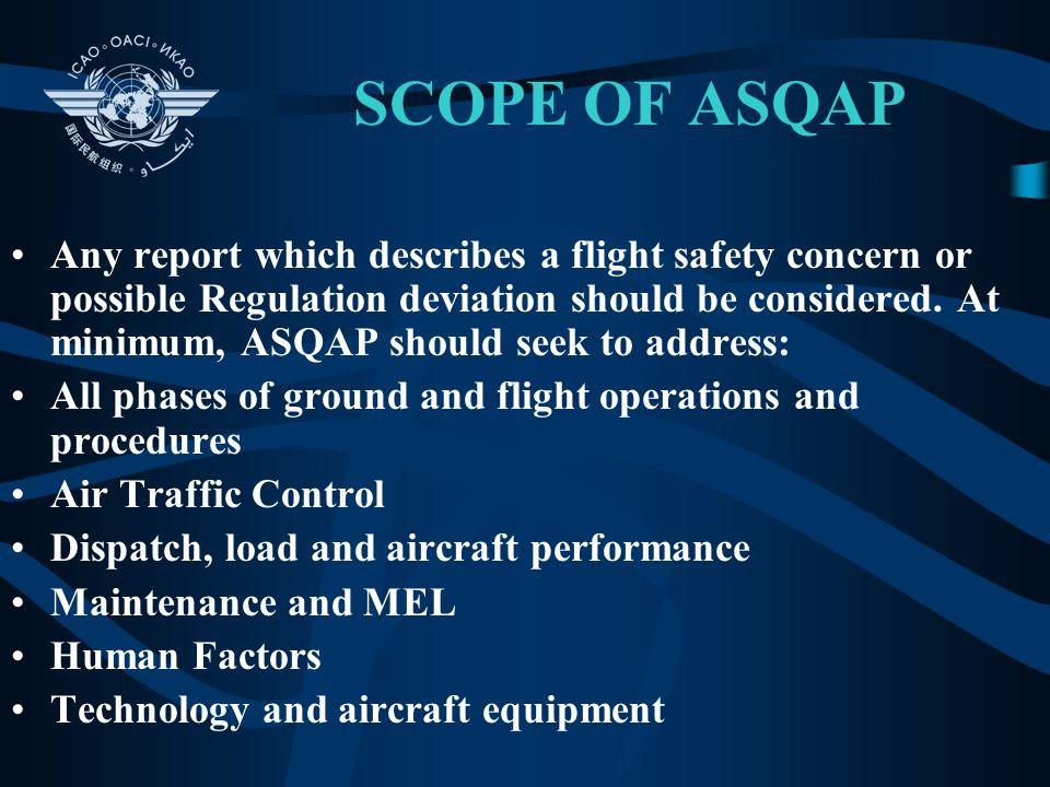 SCOPE OF ASQAP