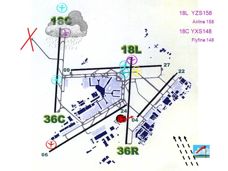 18L YZS158 Airline 158 18C YXS148 Flyfine 148