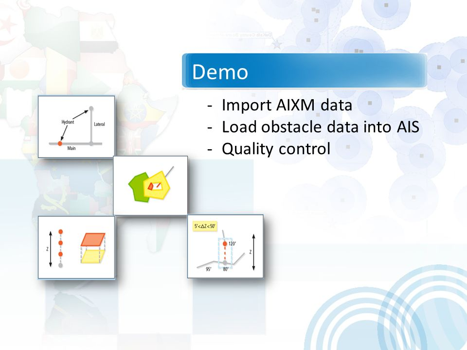 Demo Import AIXM data Load obstacle data into AIS Quality control