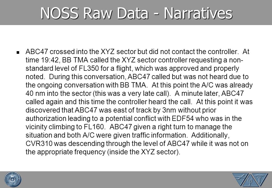 NOSS Raw Data - Narratives