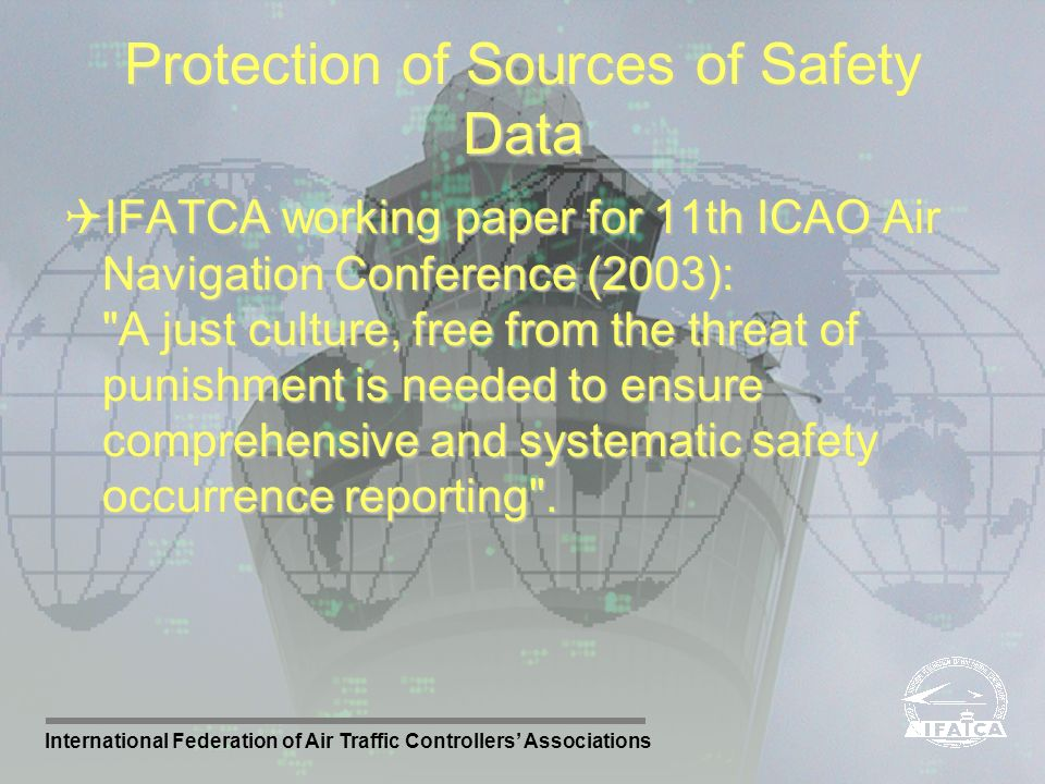 Protection of Sources of Safety Data