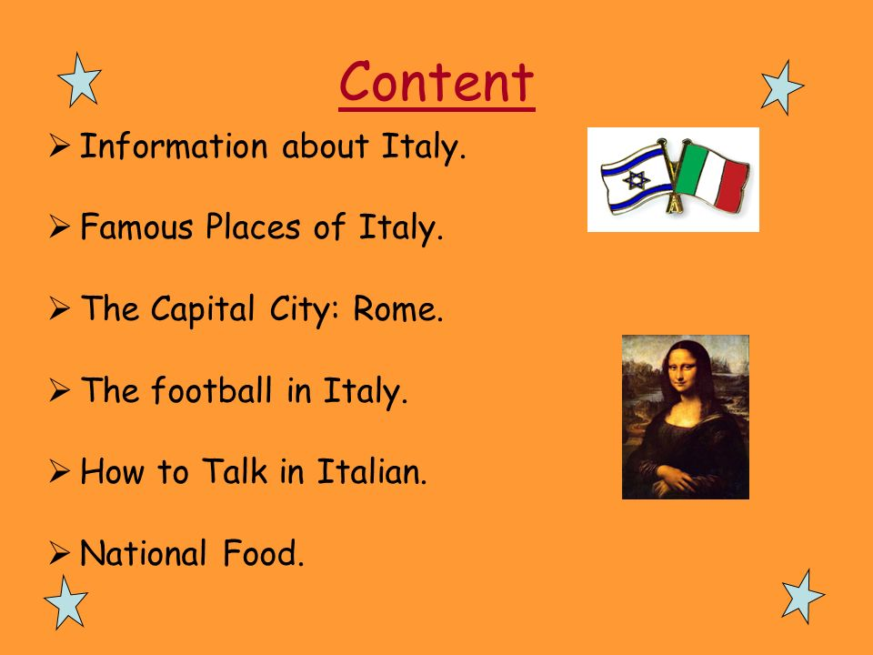 Content Information about Italy. Famous Places of Italy.