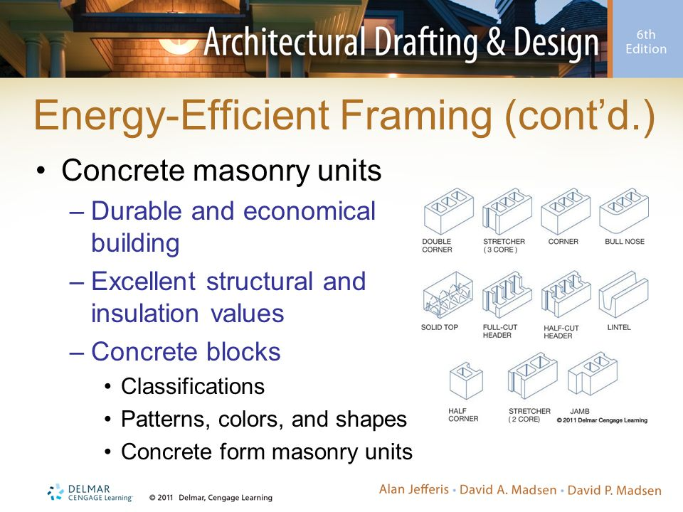 Environmentally friendly framing methods ppt video for Insulated concrete masonry units