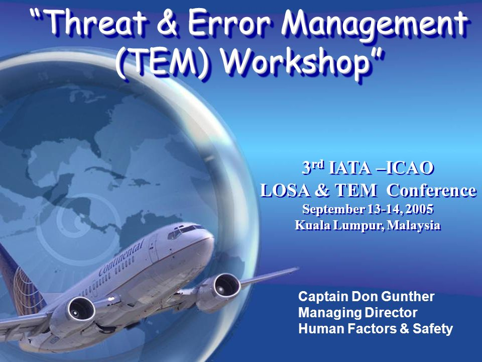 Threat & Error Management (TEM) Workshop