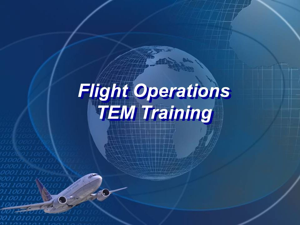 Flight Operations TEM Training