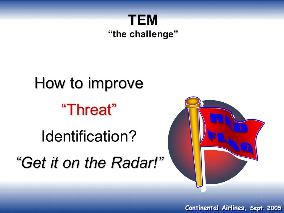 How to improve Threat Identification Get it on the Radar!