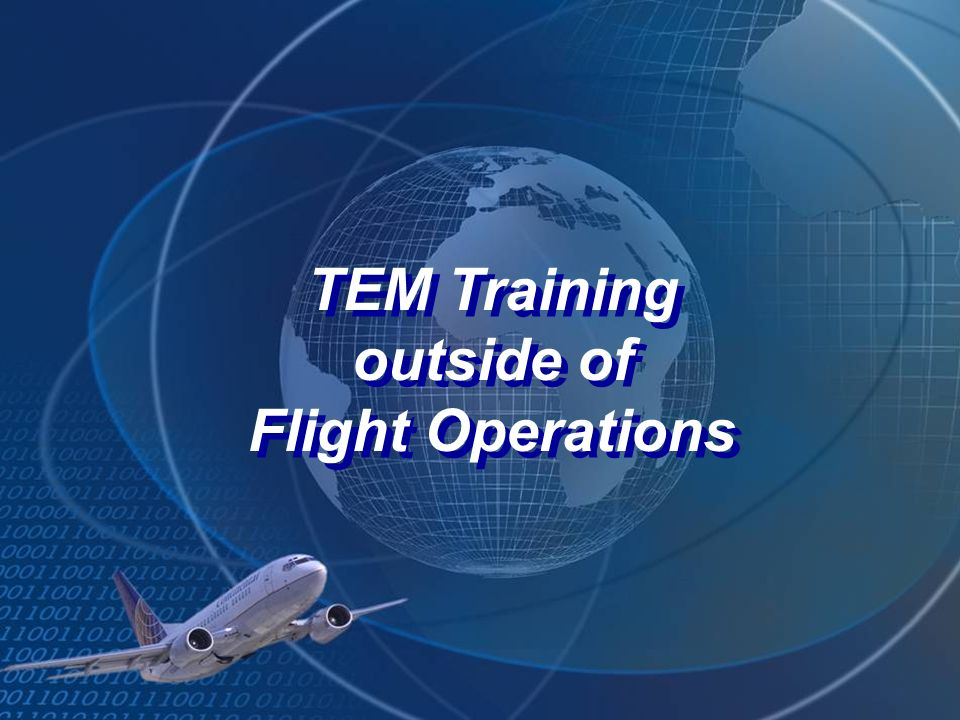TEM Training outside of Flight Operations