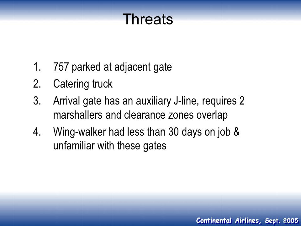 Threats 757 parked at adjacent gate Catering truck