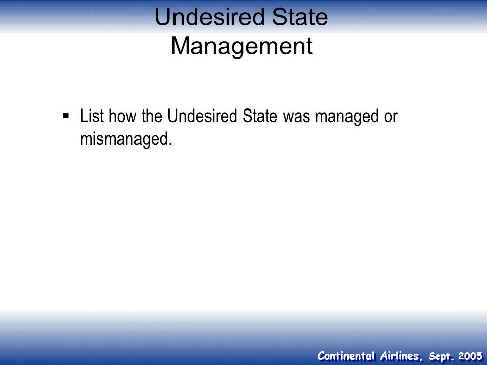 Undesired State Management