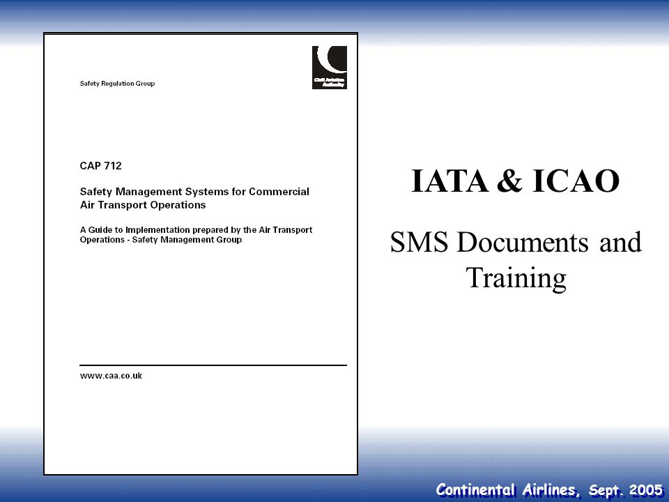 SMS Documents and Training